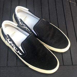 Saint Laurent canvas slip on sneakers shoes